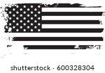 usa flag black | Shutterstock .eps vector #600328304