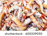 crayfish for sale at the fish... | Shutterstock . vector #600339050