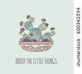 enjoy the little things... | Shutterstock .eps vector #600342554