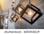 modern pendant light with... | Shutterstock . vector #600343619