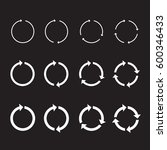 set of white circle vector... | Shutterstock .eps vector #600346433