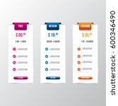 vector pricing table template... | Shutterstock .eps vector #600346490