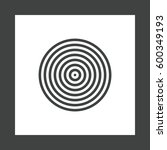 concentric circles  rings... | Shutterstock .eps vector #600349193