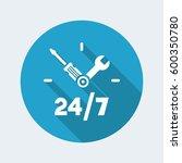 full time technical assistance... | Shutterstock .eps vector #600350780
