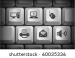computer icons on computer...