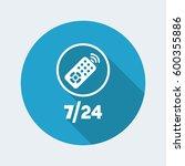 steady tv services   vector web ... | Shutterstock .eps vector #600355886