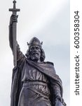 Small photo of Statue of King Alfred the Great who ruled the Kingdom of Wessex, England from 871 to 899