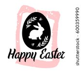 happy easter vector card on the ... | Shutterstock .eps vector #600359990
