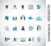 business training icon set | Shutterstock .eps vector #600360254