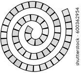 abstract futuristic spiral maze ... | Shutterstock .eps vector #600362954