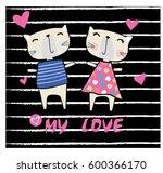 cute animal slogan | Shutterstock .eps vector #600366170
