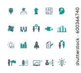 business training icon set | Shutterstock .eps vector #600366740
