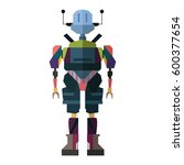 robot character icon  with full ... | Shutterstock .eps vector #600377654