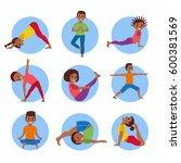 cute cartoon gymnastics for... | Shutterstock .eps vector #600381569