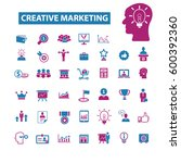 creative marketing icons  | Shutterstock .eps vector #600392360