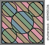 circle stripe and black line... | Shutterstock .eps vector #600400136