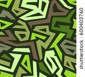 vector seamless pattern. modern ... | Shutterstock .eps vector #600403760