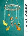 handmade multicolor baby crib... | Shutterstock . vector #600404840