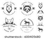 set of vintage logo and... | Shutterstock . vector #600405680