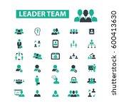 leader team icons  | Shutterstock .eps vector #600413630