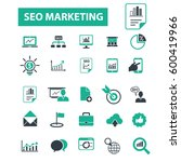 seo marketing icons  | Shutterstock .eps vector #600419966