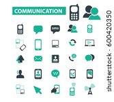 communication icons  | Shutterstock .eps vector #600420350