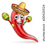 a mexican red chilli pepper... | Shutterstock .eps vector #600420524