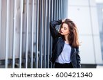 close up fashion street stile... | Shutterstock . vector #600421340