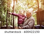 granddaughter with cute little... | Shutterstock . vector #600422150