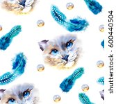 animal collection  cat....   Shutterstock . vector #600440504