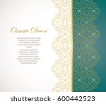 vector decorative frame  in... | Shutterstock .eps vector #600442523