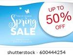 spring sale poster  vector... | Shutterstock .eps vector #600444254