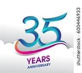 35 years anniversary... | Shutterstock .eps vector #600446933