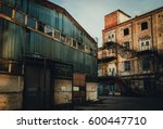 old and collapsing abandoned... | Shutterstock . vector #600447710