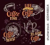 coffee menu graphic element for ... | Shutterstock .eps vector #600448814