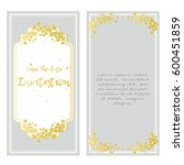 gray with gold flowers. vector... | Shutterstock .eps vector #600451859