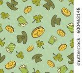 saint patrick's day seamless... | Shutterstock . vector #600463148