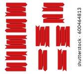 red banner set | Shutterstock .eps vector #600464813