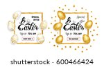 easter sale   banners ... | Shutterstock .eps vector #600466424