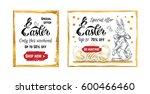 easter sale   calligraphy in... | Shutterstock .eps vector #600466460