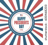 presidents day card with grunge ... | Shutterstock . vector #600468203