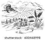 Rural Landscape Field Wheat In...
