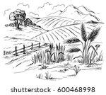 Rural Landscape Field Wheat In...