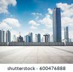 empty square and floor with sky | Shutterstock . vector #600476888