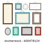 different color blank picture... | Shutterstock . vector #600478124