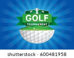 vector of golf tournament with... | Shutterstock .eps vector #600481958