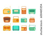 set of isolated vintage tape... | Shutterstock .eps vector #600485354
