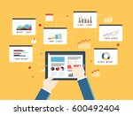 flat design vector illustration ... | Shutterstock .eps vector #600492404