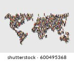 group of people in form of... | Shutterstock .eps vector #600495368