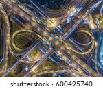 road traffic in city at... | Shutterstock . vector #600495740